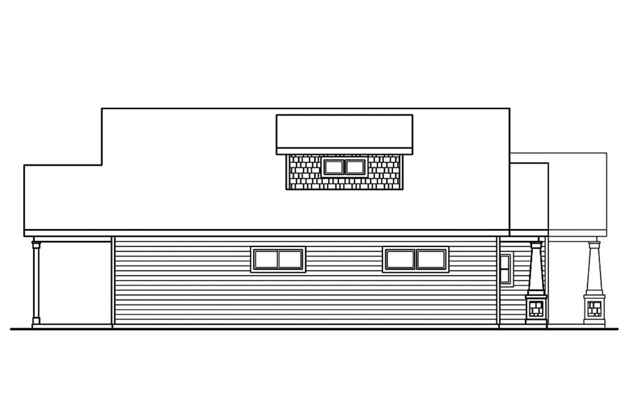 108-1852: Home Plan Left Elevation