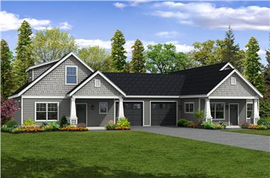 5-Bedroom, 2770 Sq Ft Multi-Unit House Plan - 108-1852 - Front Exterior
