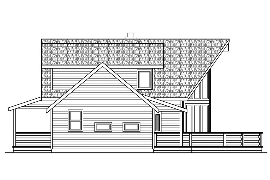 Home Plan Left Elevation of this 3-Bedroom,2063 Sq Ft Plan -108-1853