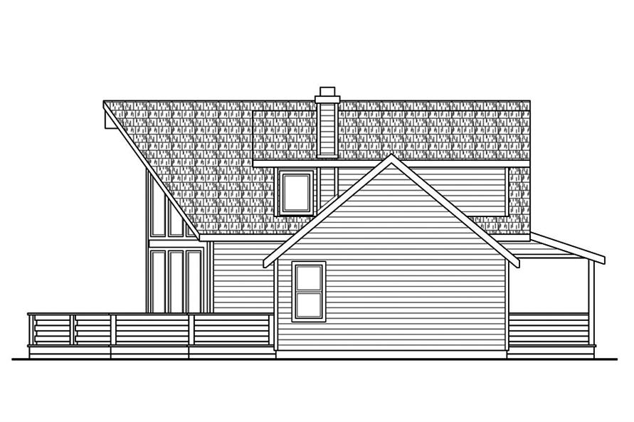 Home Plan Right Elevation of this 3-Bedroom,2063 Sq Ft Plan -108-1853