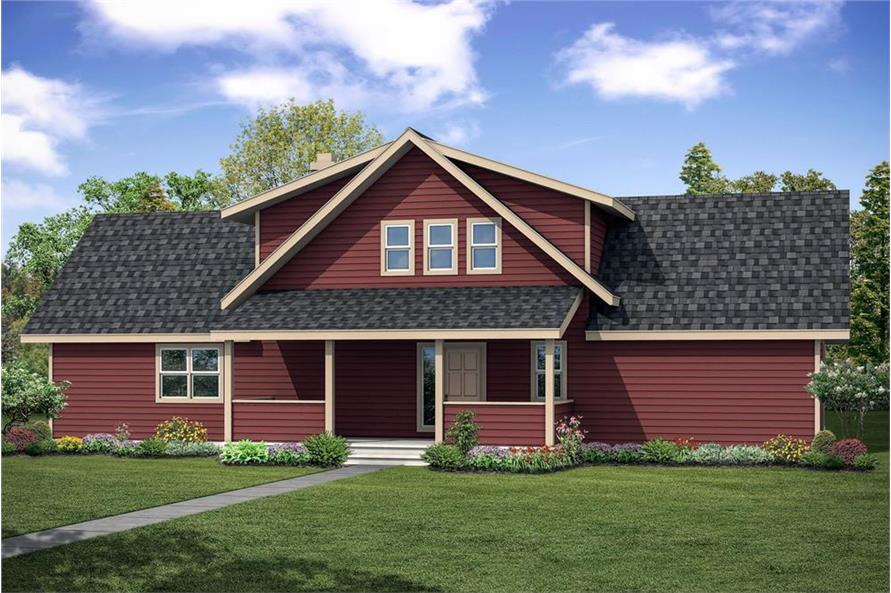 Home Plan Front Elevation of this 3-Bedroom,2063 Sq Ft Plan -108-1853
