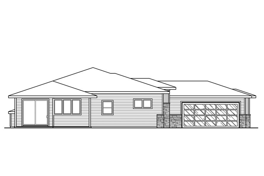 Home Plan Left Elevation of this 3-Bedroom,2294 Sq Ft Plan -108-1856