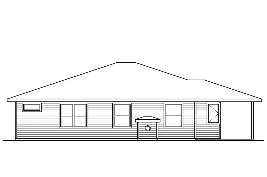 Home Plan Rear Elevation of this 3-Bedroom,2294 Sq Ft Plan -108-1856