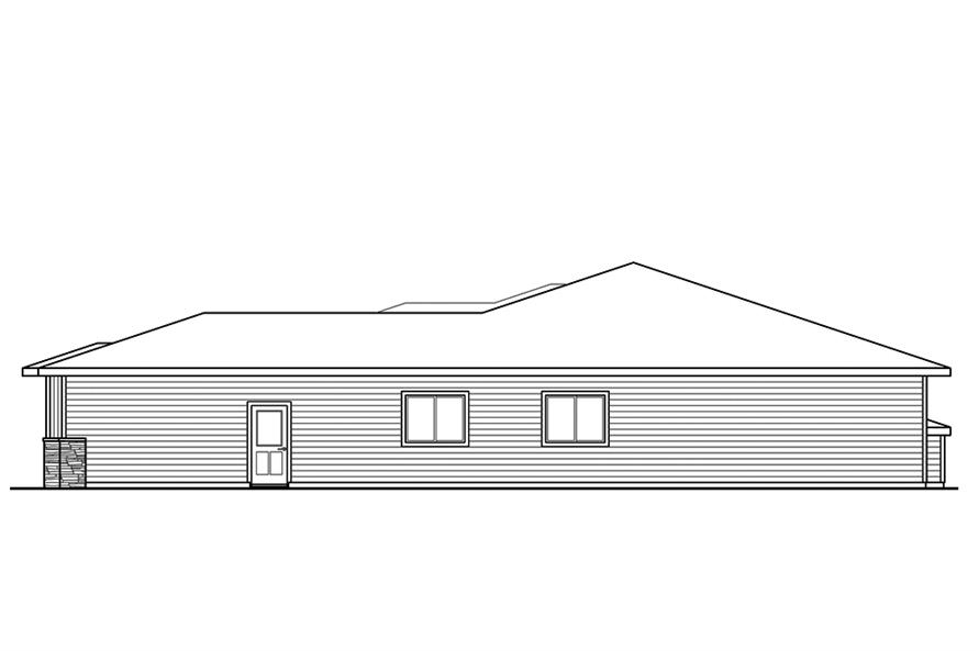 Home Plan Right Elevation of this 3-Bedroom,2294 Sq Ft Plan -108-1856