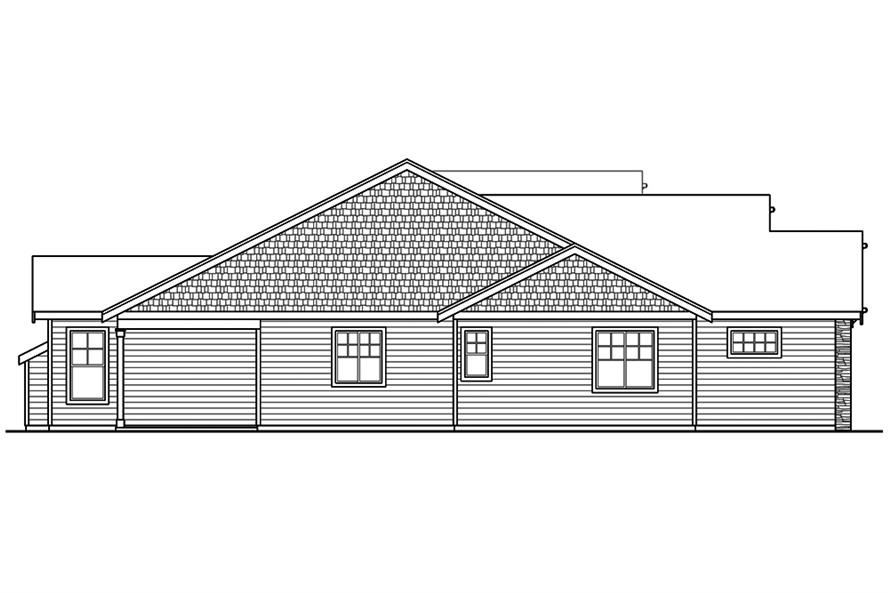 Home Plan Left Elevation of this 3-Bedroom,1963 Sq Ft Plan -108-1859