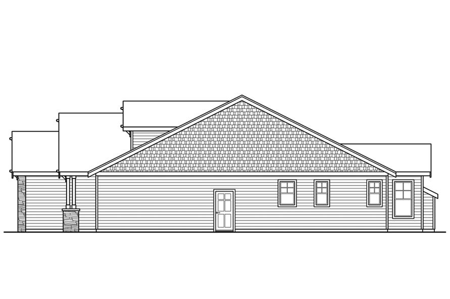 Home Plan Right Elevation of this 3-Bedroom,1963 Sq Ft Plan -108-1859