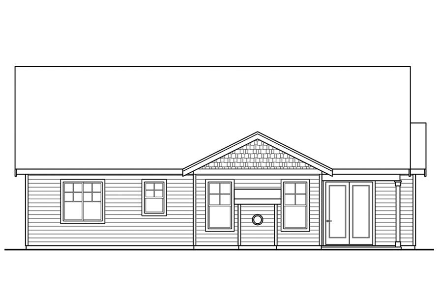 Home Plan Rear Elevation of this 3-Bedroom,1963 Sq Ft Plan -108-1859