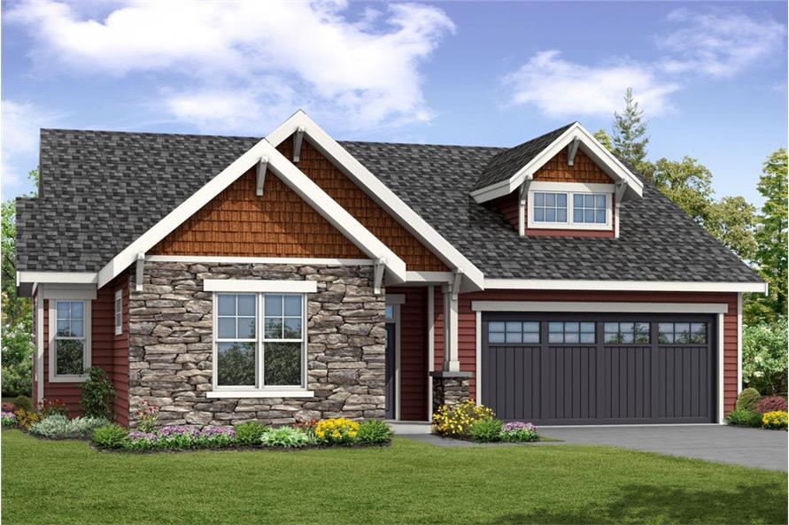 3-Bedroom, 1963 Sq Ft Cottage Home Plan - 108-1859 - Main Exterior