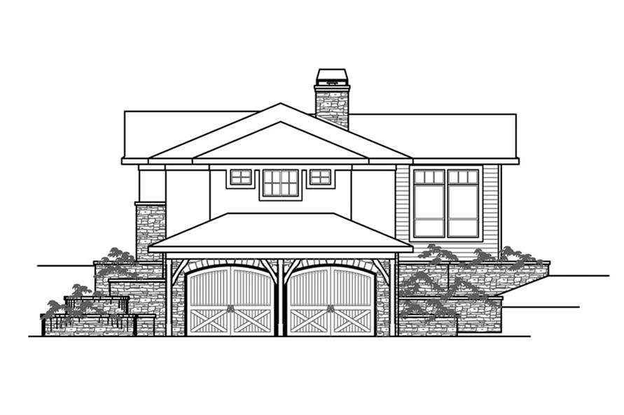 Home Plan Right Elevation of this 3-Bedroom,3919 Sq Ft Plan -108-1862