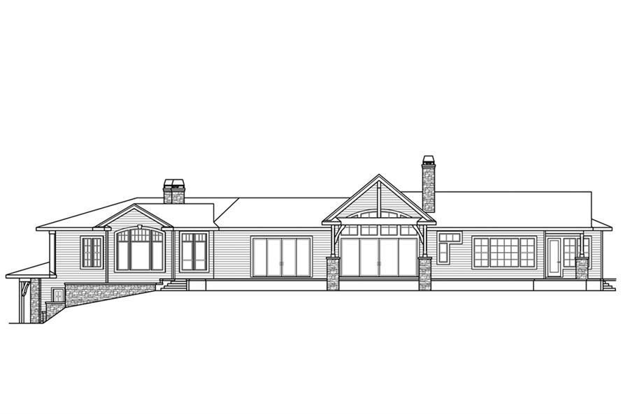 Home Plan Rear Elevation of this 3-Bedroom,3919 Sq Ft Plan -108-1862