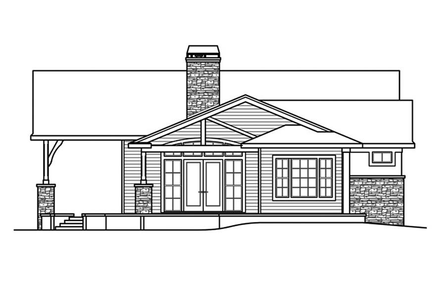 Home Plan Left Elevation of this 3-Bedroom,3919 Sq Ft Plan -108-1862