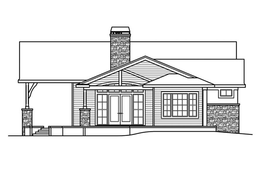 108-1862: Home Plan Left Elevation
