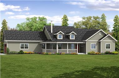 3-Bedroom, 1786 Sq Ft Country Home Plan - 108-1866 - Main Exterior