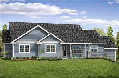 Front elevation of Country home (ThePlanCollection: House Plan #108-1867)