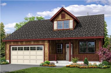 3-Bedroom, 1798 Sq Ft Shingle House Plan - 108-1871 - Front Exterior