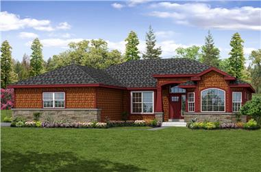3-Bedroom, 2099 Sq Ft Shingle House Plan - 108-1875 - Front Exterior