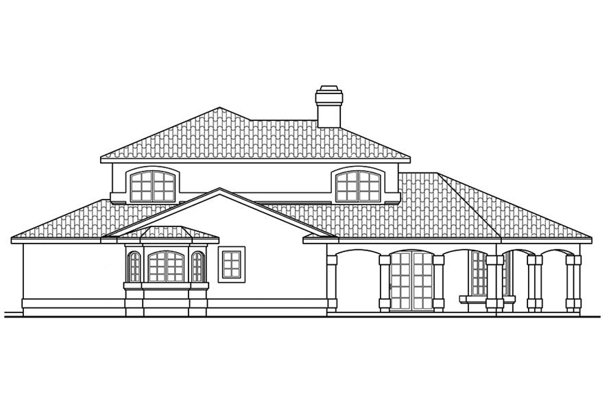 Home Plan Left Elevation of this 2-Bedroom,1998 Sq Ft Plan -108-1878