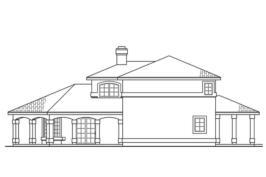 Home Plan Right Elevation of this 2-Bedroom,1998 Sq Ft Plan -108-1878