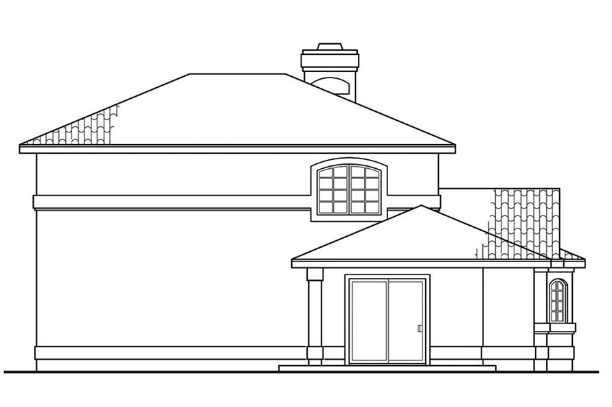 Home Plan Rear Elevation of this 2-Bedroom,1998 Sq Ft Plan -108-1878