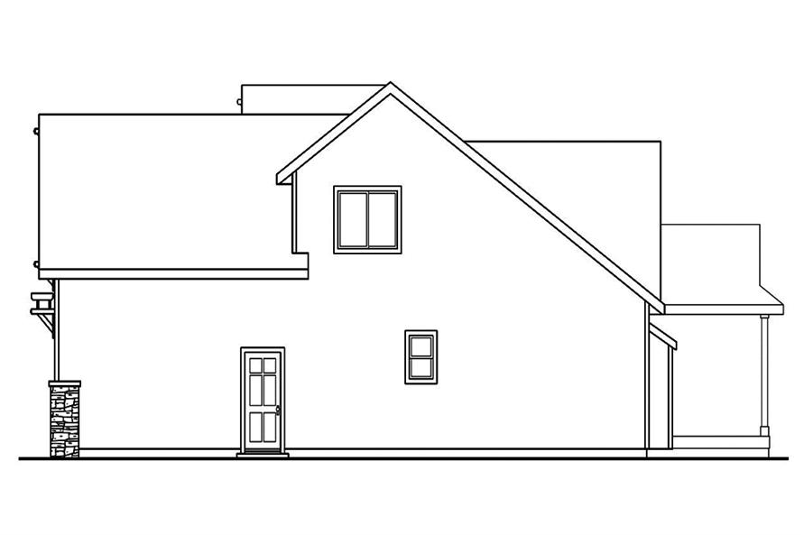 Home Plan Right Elevation of this 3-Bedroom,2013 Sq Ft Plan -108-1891