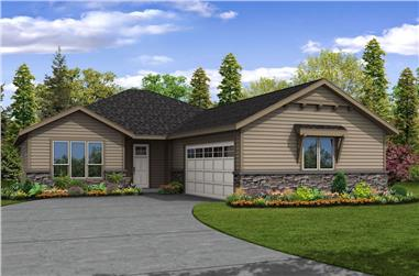 3-Bedroom, 2004 Sq Ft Ranch Home Plan - 108-1900 - Main Exterior