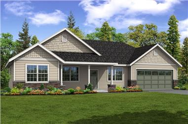 4-Bedroom, 2124 Sq Ft Ranch House Plan - 108-1901 - Front Exterior