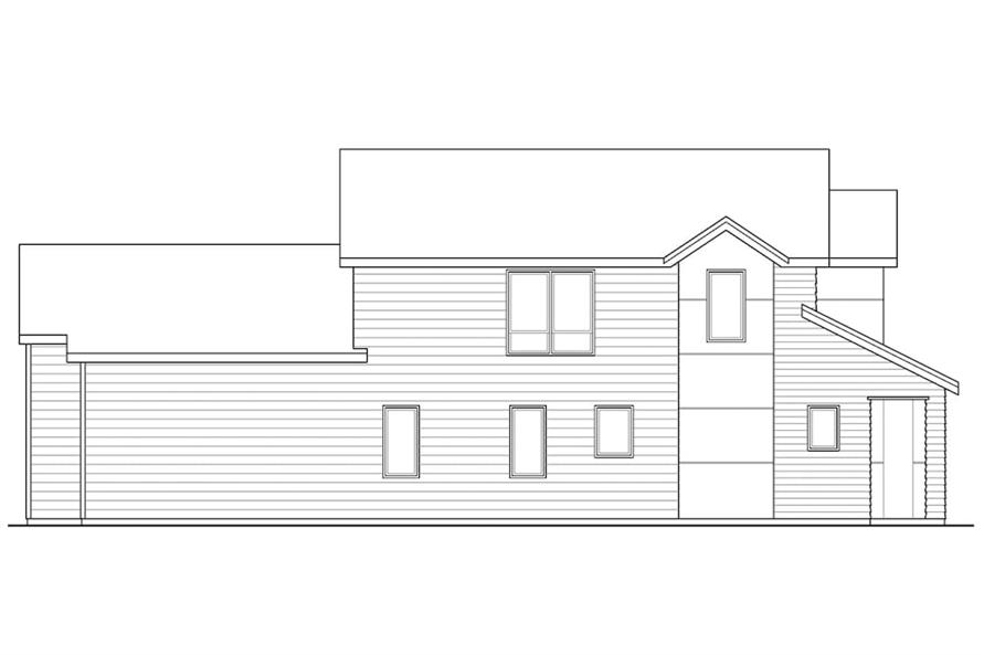 Home Plan Left Elevation of this 3-Bedroom,1688 Sq Ft Plan -108-1903