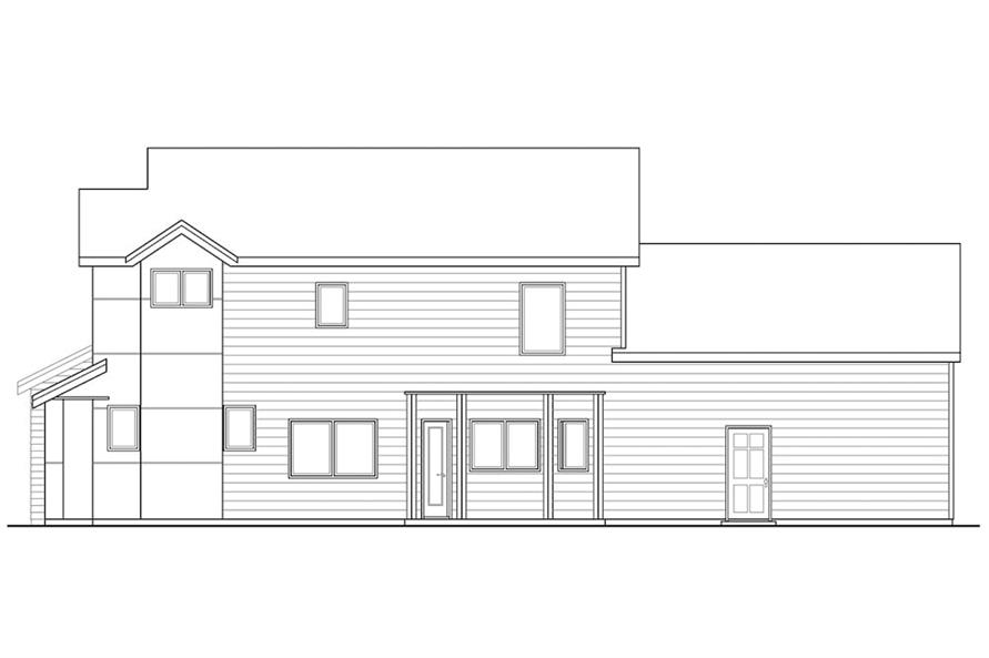 Home Plan Right Elevation of this 3-Bedroom,1688 Sq Ft Plan -108-1903