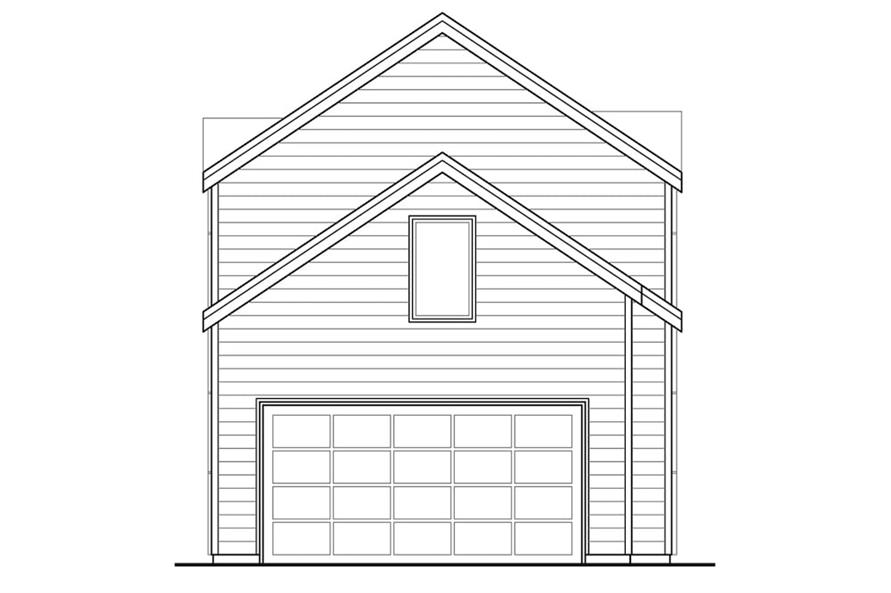 Home Plan Rear Elevation of this 3-Bedroom,1688 Sq Ft Plan -108-1903