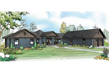 3-Bedroom, 2716 Sq Ft Country Home Plan - 108-1905 - Main Exterior