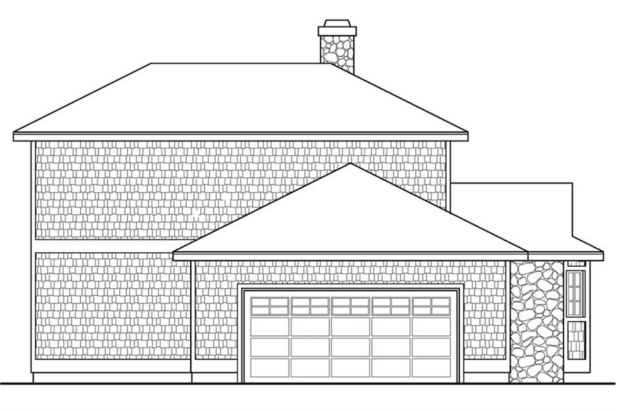Home Plan Left Elevation of this 2-Bedroom,1750 Sq Ft Plan -108-1906