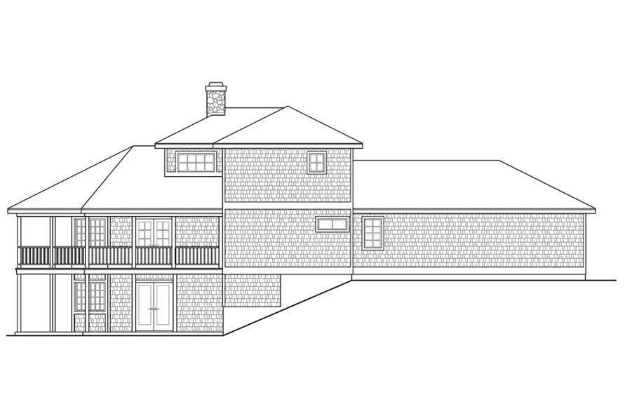 Home Plan Rear Elevation of this 2-Bedroom,1750 Sq Ft Plan -108-1906