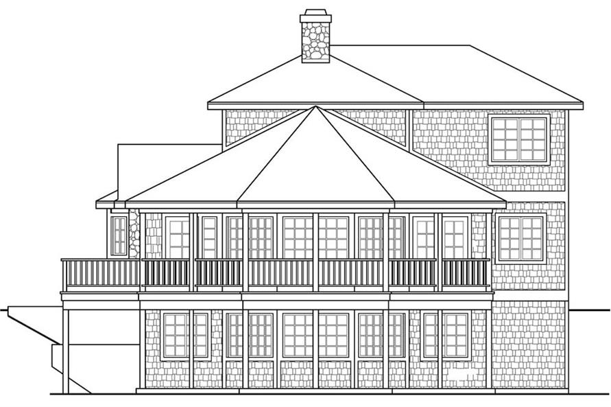 Home Plan Right Elevation of this 2-Bedroom,1750 Sq Ft Plan -108-1906
