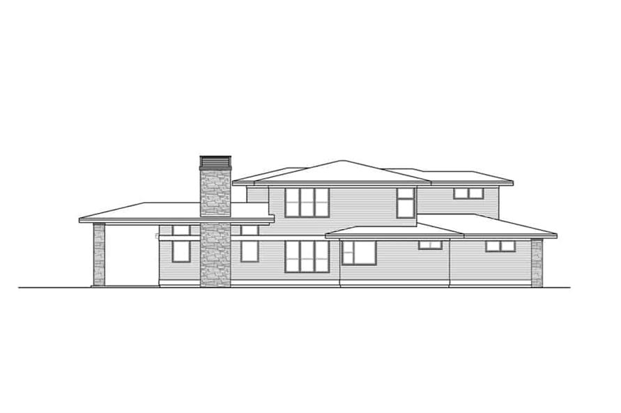 Home Plan Left Elevation of this 3-Bedroom,3027 Sq Ft Plan -108-1910