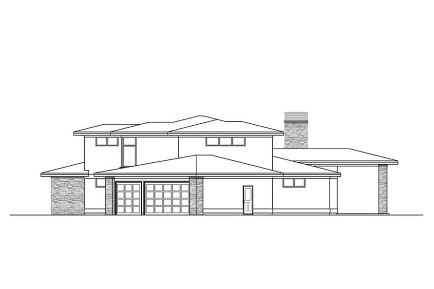 Home Plan Right Elevation of this 3-Bedroom,3027 Sq Ft Plan -108-1910