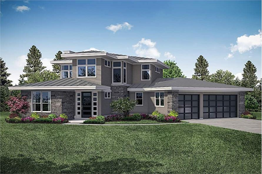 3-Bedroom, 3027 Sq Ft Contemporary Home - Plan #108-1910 - Main Exterior