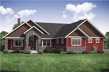 3-Bedroom, 3848 Sq Ft Ranch House - Plan #108-1911 - Front Exterior