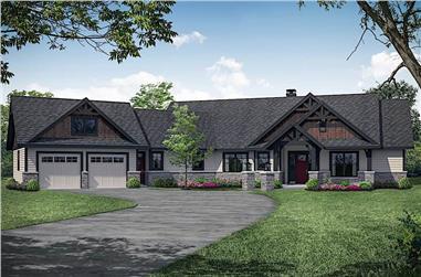 3-Bedroom, 2652 Sq Ft Ranch Home - Plan #108-1912 - Main Exterior