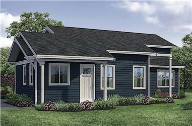 2-Bedroom, 1080 Sq Ft Ranch Home - Plan #108-1913 - Main Exterior