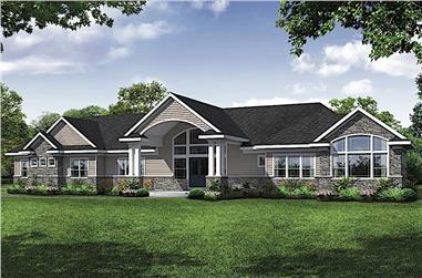 3-Bedroom, 3495 Sq Ft Ranch House - Plan #108-1914 - Front Exterior
