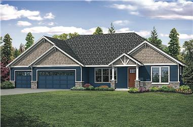 4-Bedroom, 2708 Sq Ft Ranch House Plan - 108-1917 - Front Exterior