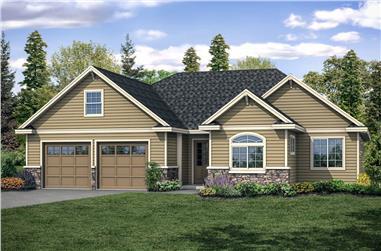 3-Bedroom, 2425 Sq Ft Ranch Home Plan - 108-1919 - Main Exterior