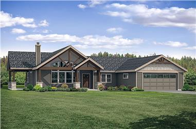 3-Bedroom, 1990 Sq Ft Ranch Home Plan - 108-1920 - Main Exterior