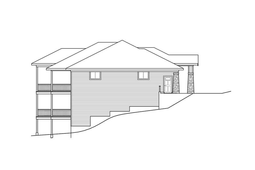 Home Plan Left Elevation of this 3-Bedroom,3237 Sq Ft Plan -108-1922