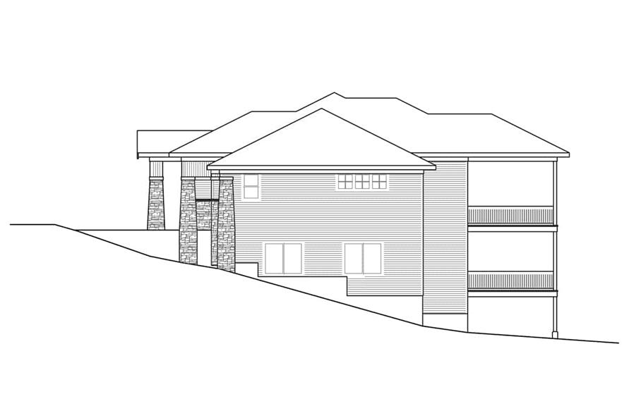 Home Plan Right Elevation of this 3-Bedroom,3237 Sq Ft Plan -108-1922
