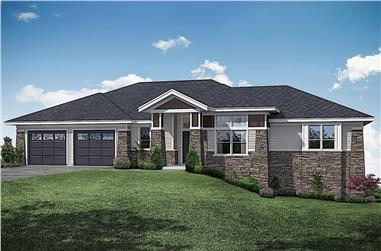 3-Bedroom, 3237 Sq Ft Contemporary Home - Plan #108-1922 - Main Exterior