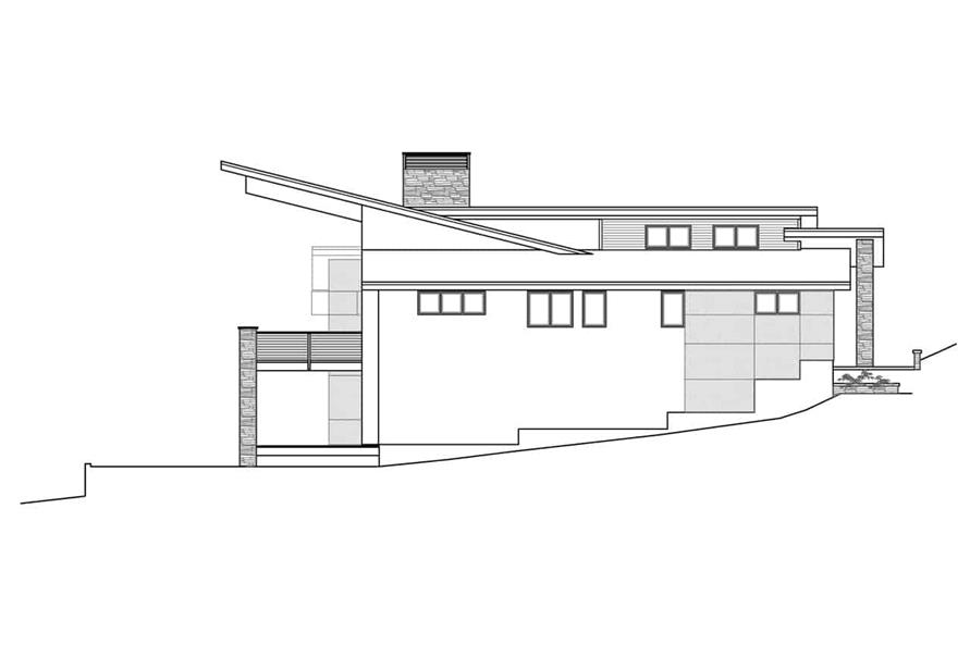 Home Plan Left Elevation of this 4-Bedroom,2928 Sq Ft Plan -108-1923