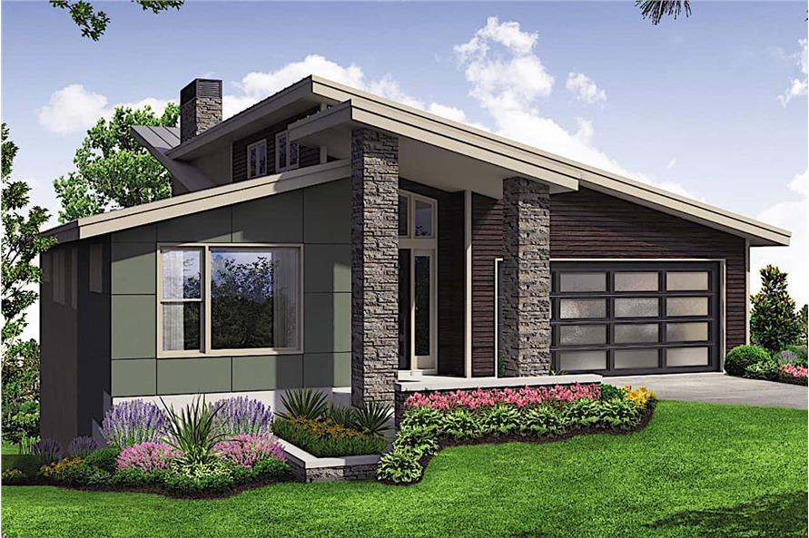 4-Bedroom, 2928 Sq Ft Mid-Century Modern Home - Plan #108-1923 - Main Exterior