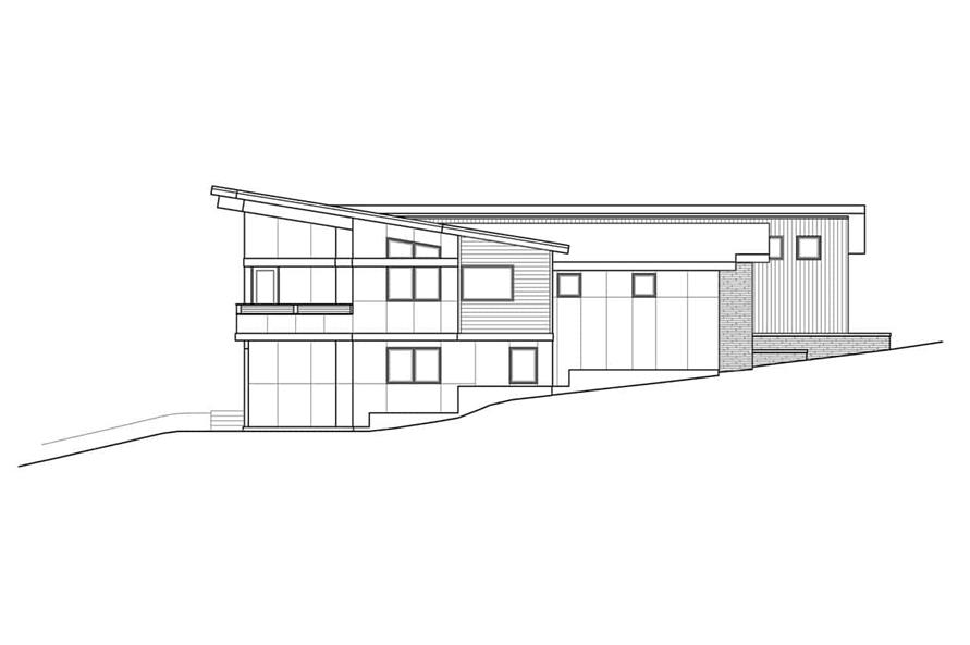 Home Plan Left Elevation of this 4-Bedroom,3957 Sq Ft Plan -108-1924