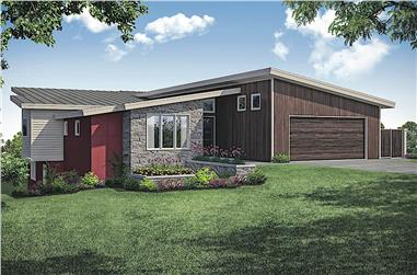 4-Bedroom, 3957 Sq Ft Mid-Century Modern House - Plan #108-1924 - Front Exterior